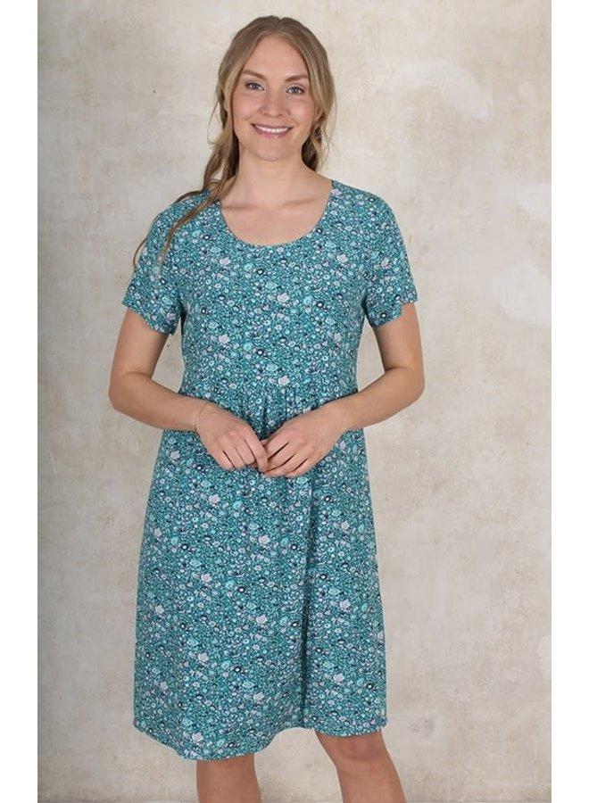 Kleid Laya-aquamarine