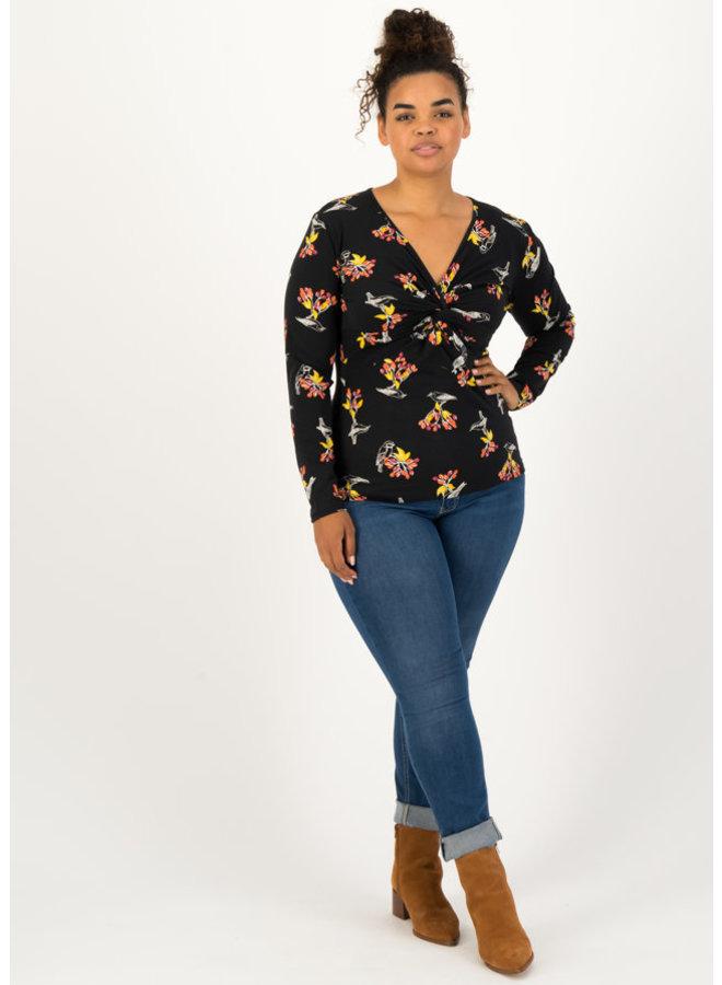 Shirt - my cosy valentine longsie - berrie birds