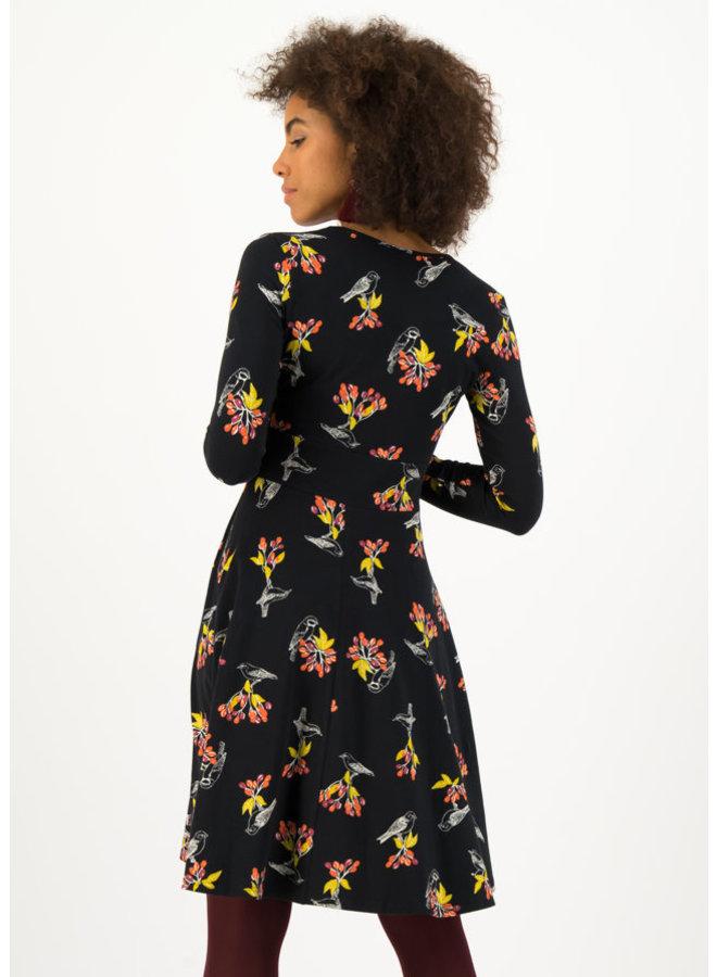 Kleid - autumn saloon robe - berrie birds