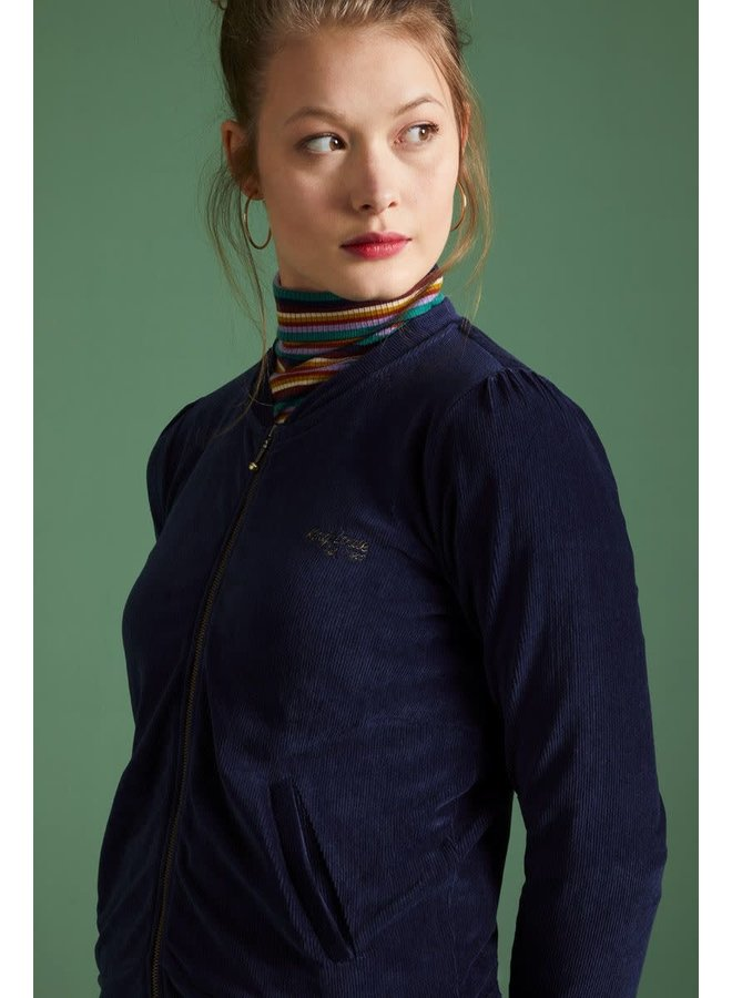 Blouson - Iris Jacket Rib Velours - Blue