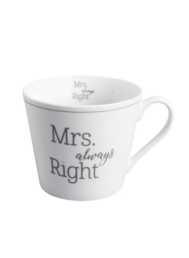 Tasse Happy Cup - Mrs. always Right