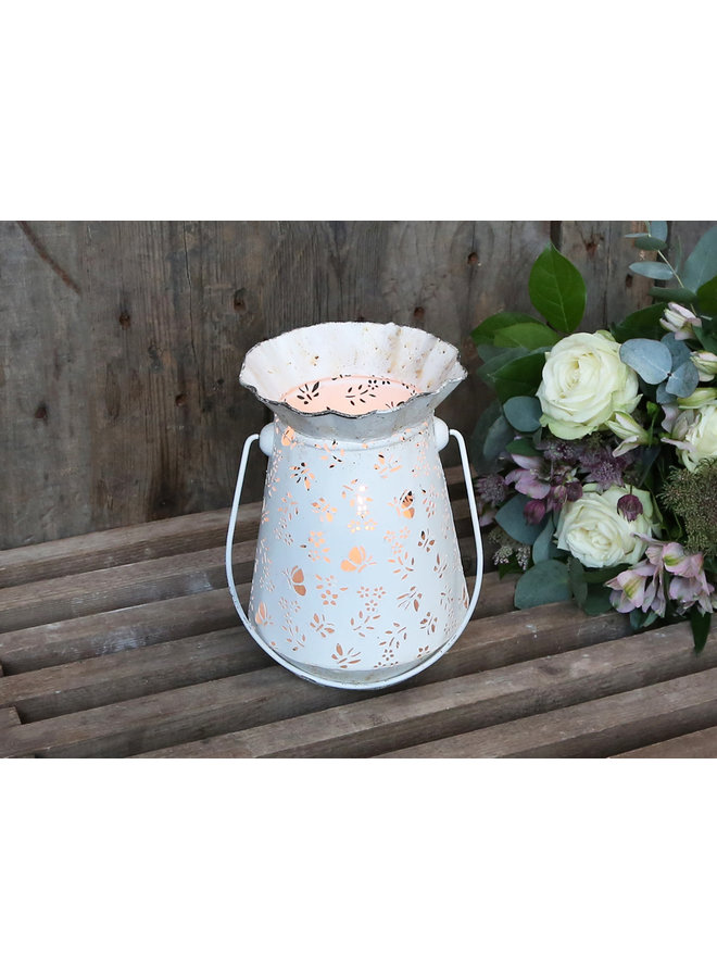 Teelichthalter im Shabby Chic - Schmetterling