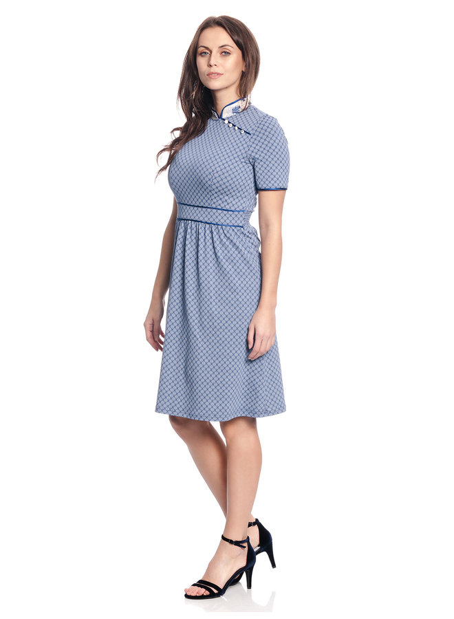 Kleid - Tokio Suki Dress - blau allover