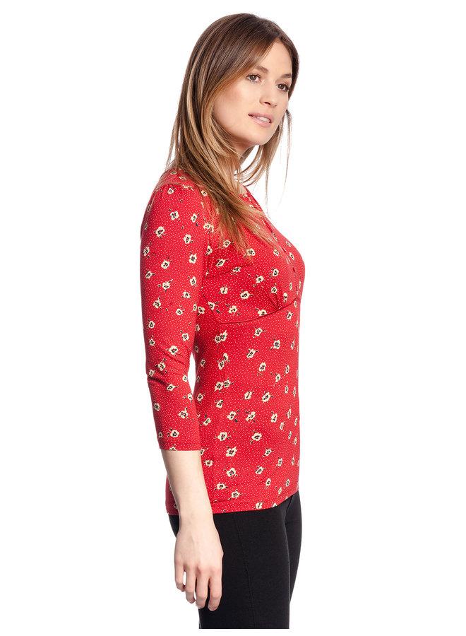 Shirt - Marie Shirt - red allover