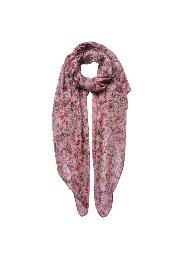 """Schal """"Flowerpower"""" - Rosa"""