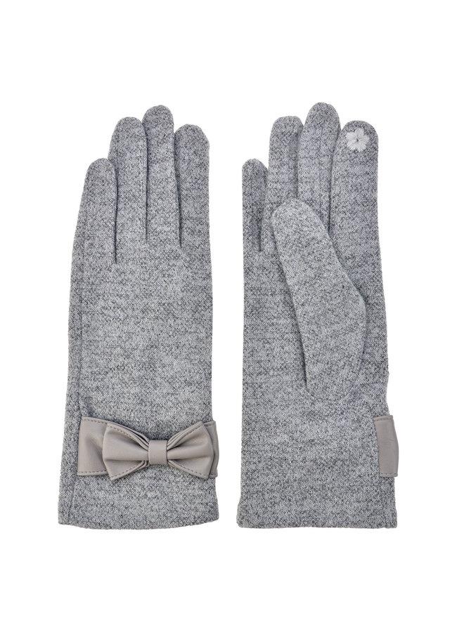 Handschuhe Hellgrau - mit Smartphone Touch
