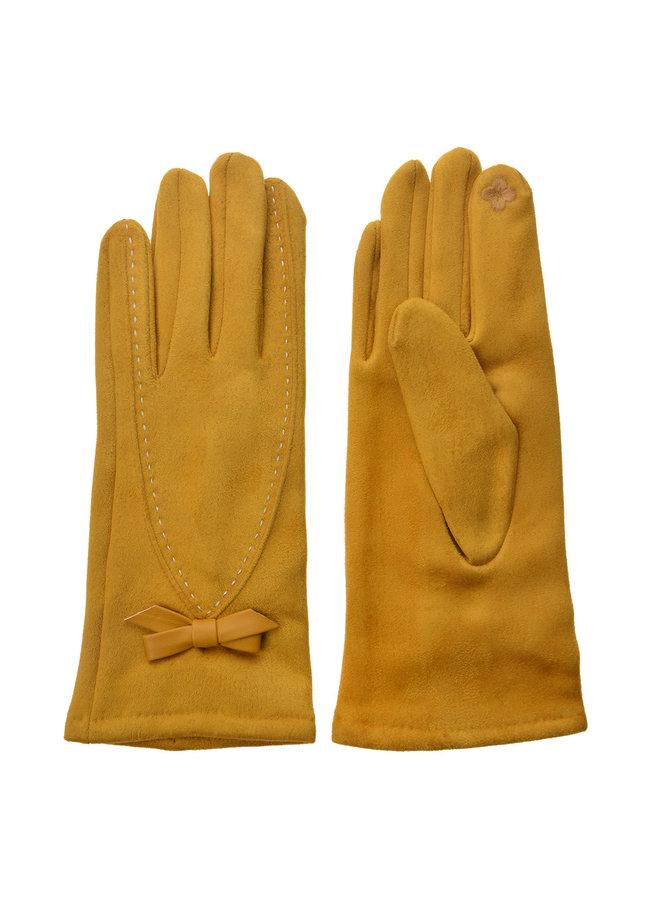 Handschuhe Senfgelb - mit Smartphone Touch