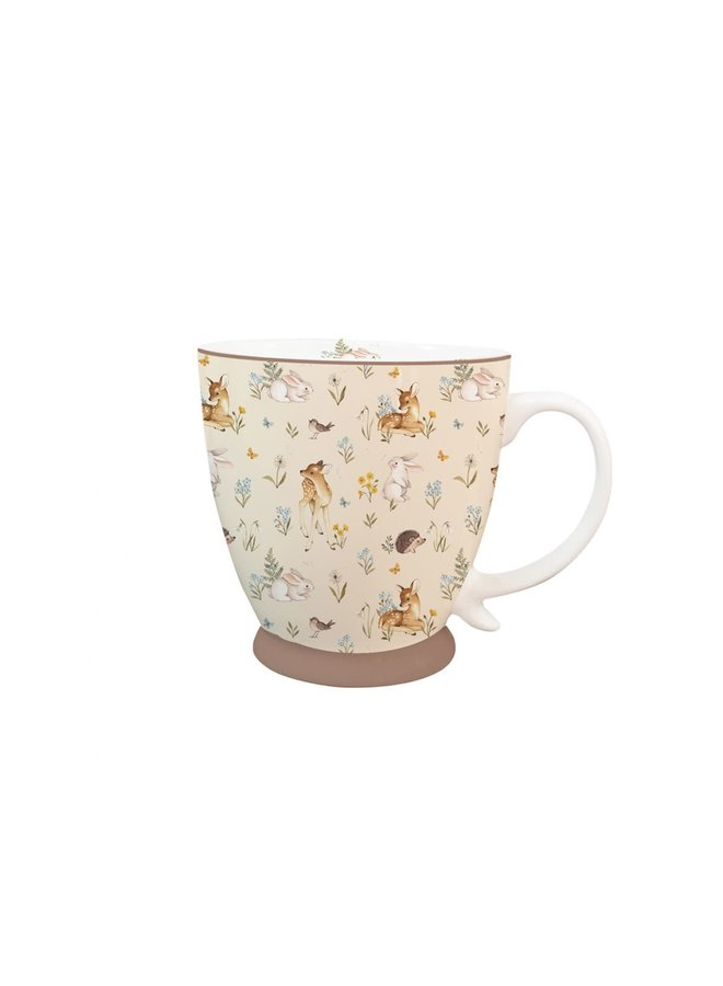 Kaffeetasse aus Porzellan - Waldtiere