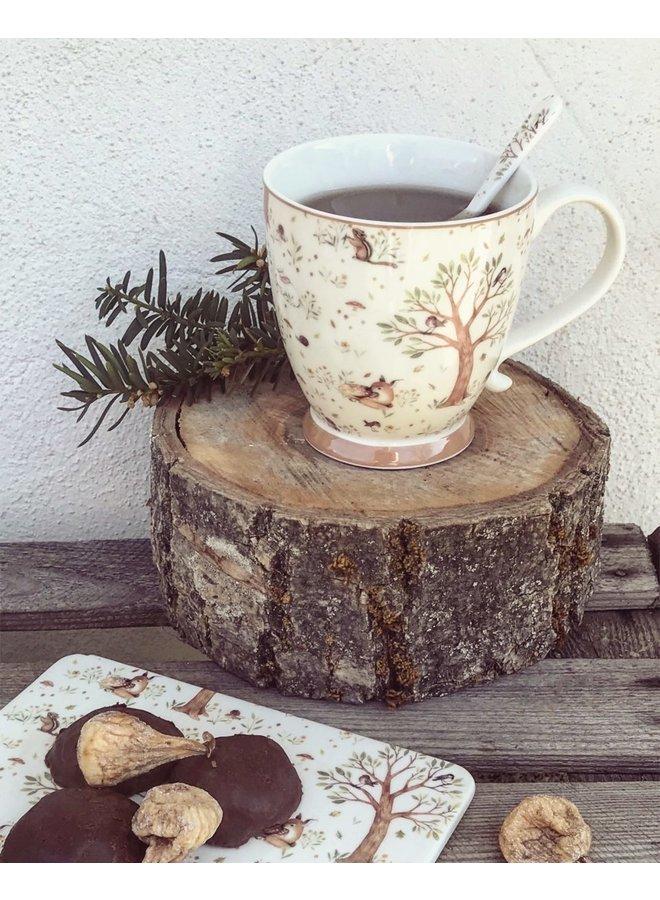 Kaffeelöffel aus Porzellan - Waldtiere