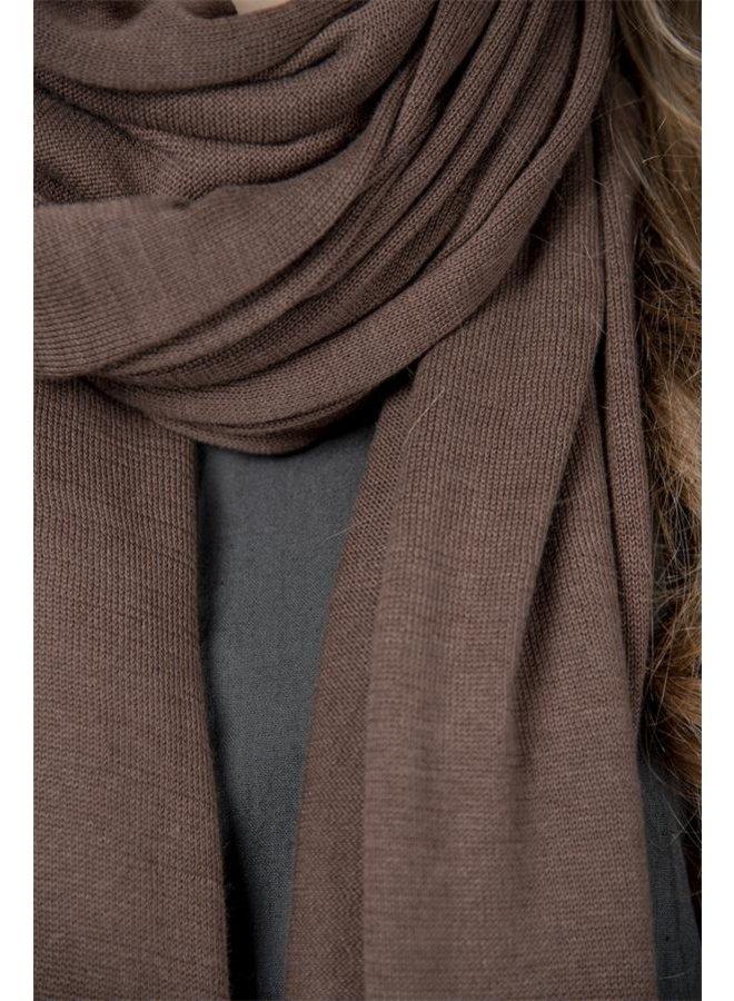 Schal Beatrice - True treasure - Dark brown