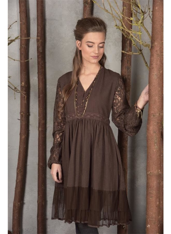 Kleid - Donna - Choko brown