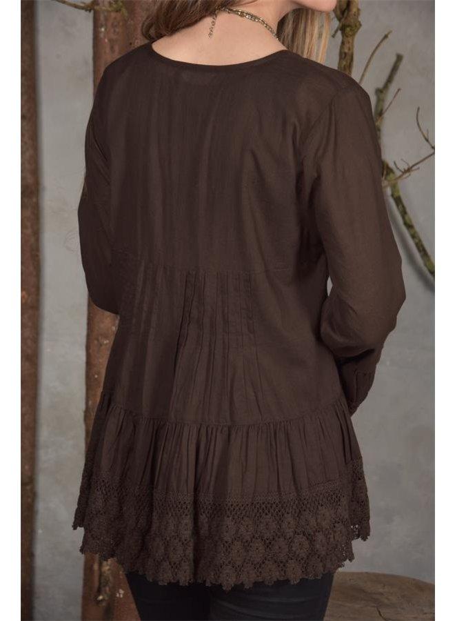 Bluse - Cara - Choko brown