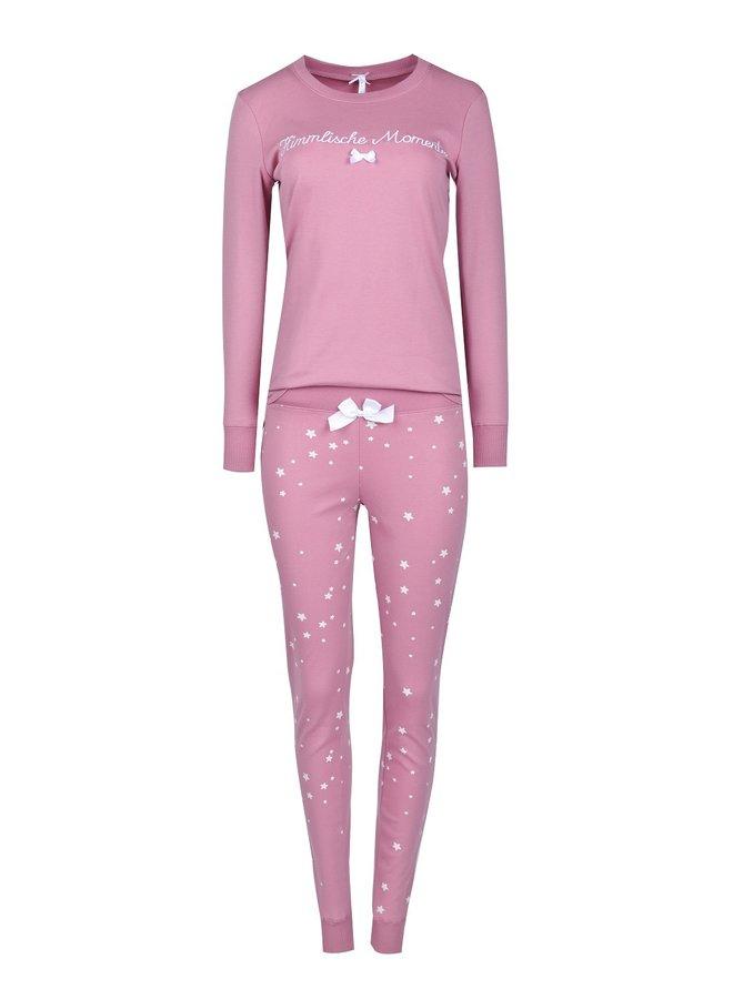 "Pyjama ""Himmlische Momente"", rosa-allover"