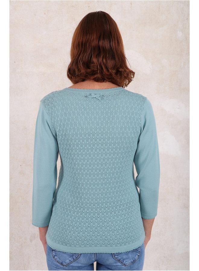 Strickjacke Martina - turquoise