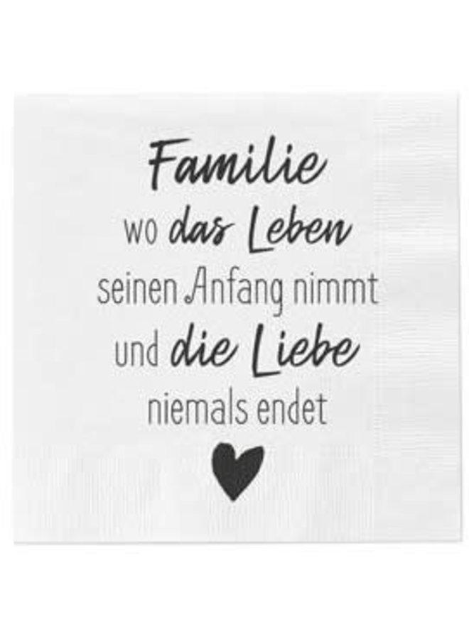 """Servietten """"Familie - das Leben"""" - 30x30cm"""