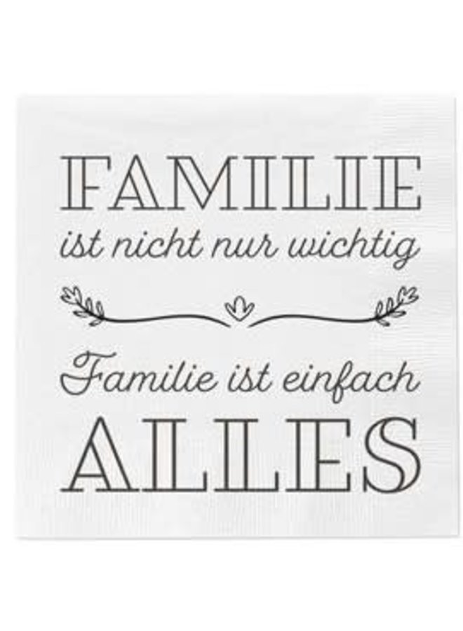"Servietten ""Familie ist Alles"" - 30x30cm"