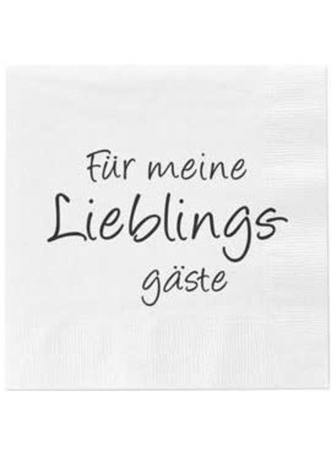 """Servietten """"Lieblingsgäste"""" - 30x30cm"""