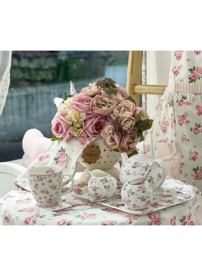 "Porzellan Zuckerdose ""Zauberhafte Blüten"""