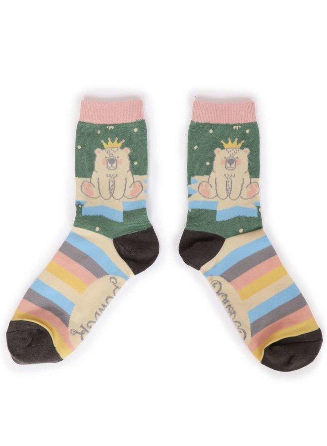 """Powder Socks """"King Bear"""""""