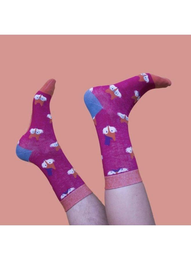 "Powder Socks Herren""Fox Pierre Pink"""
