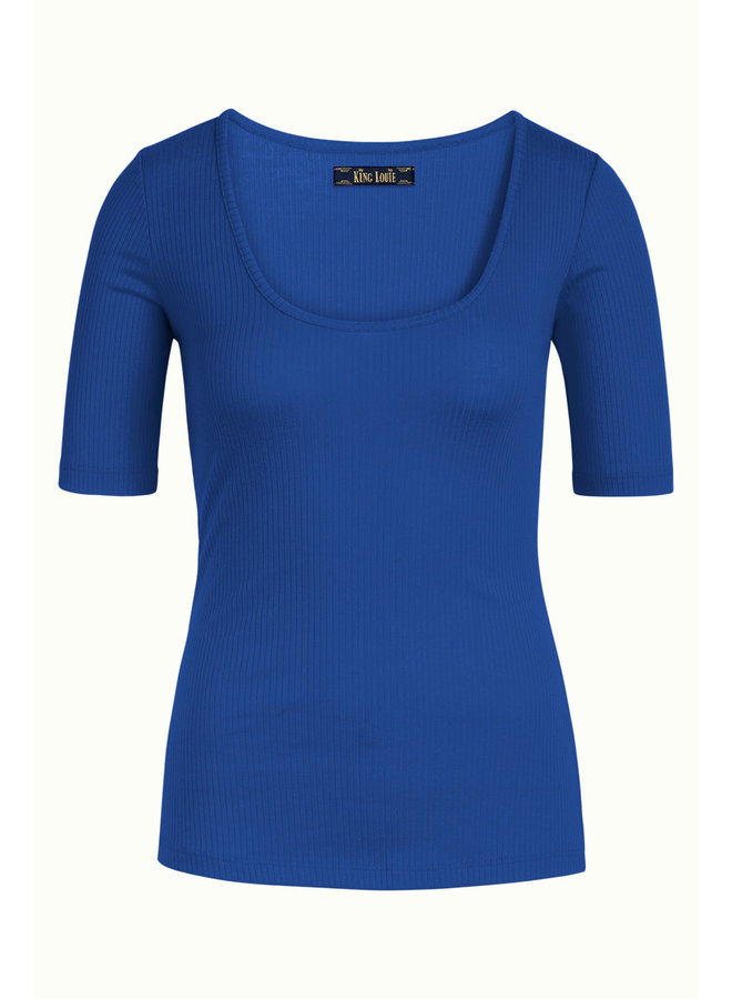 Basic Shirt - Carice Top Rib Tencel - Midnight