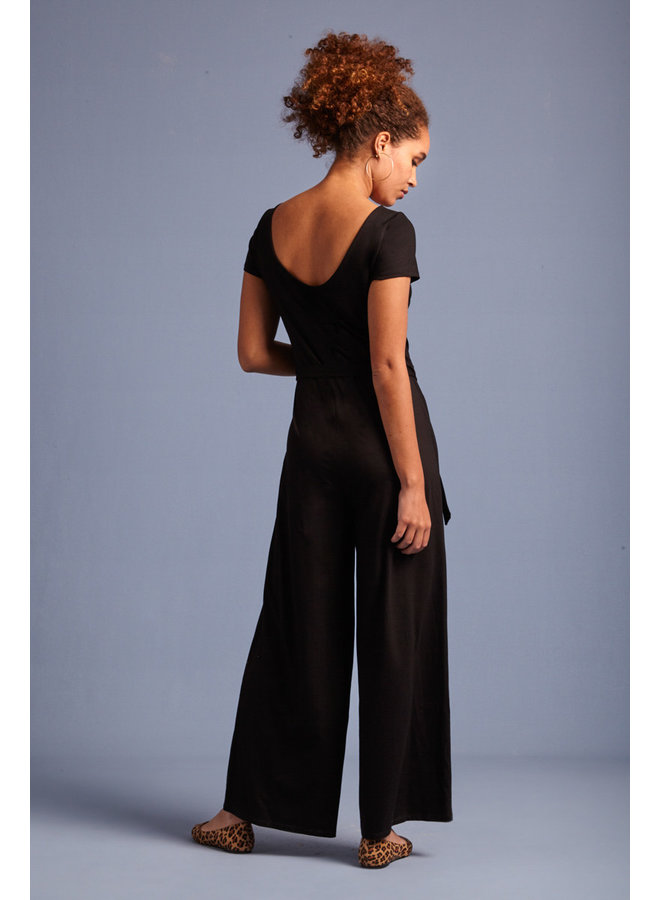 Jumsuit - Sally Jumpsuit Ecovero Classic - Black