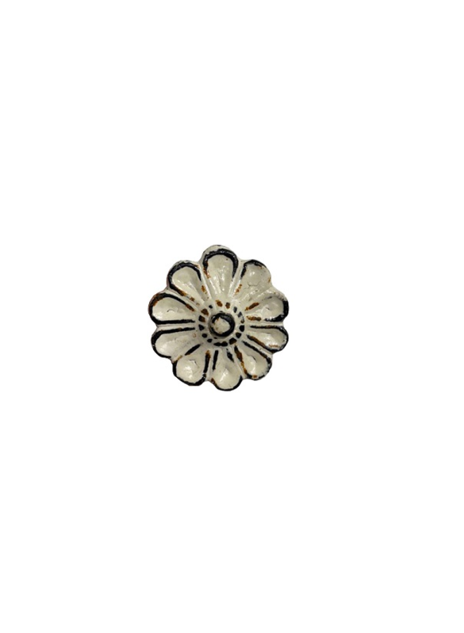 Möbelknopf Shabby Blume