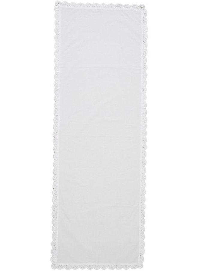 Tischläufer Weiss - 40 x140cm
