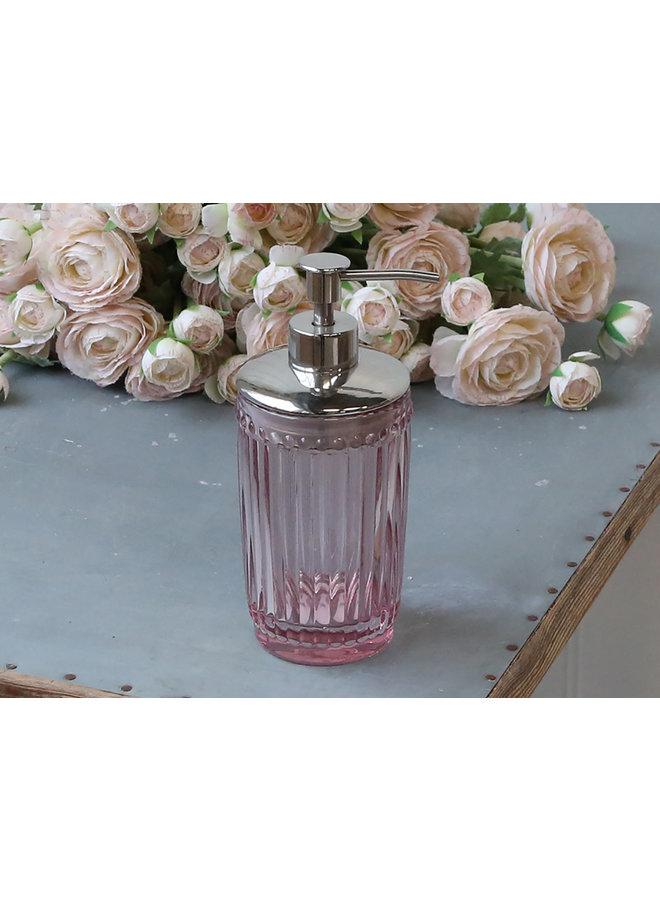 Seifenspender mit Perlenkante - Rosa