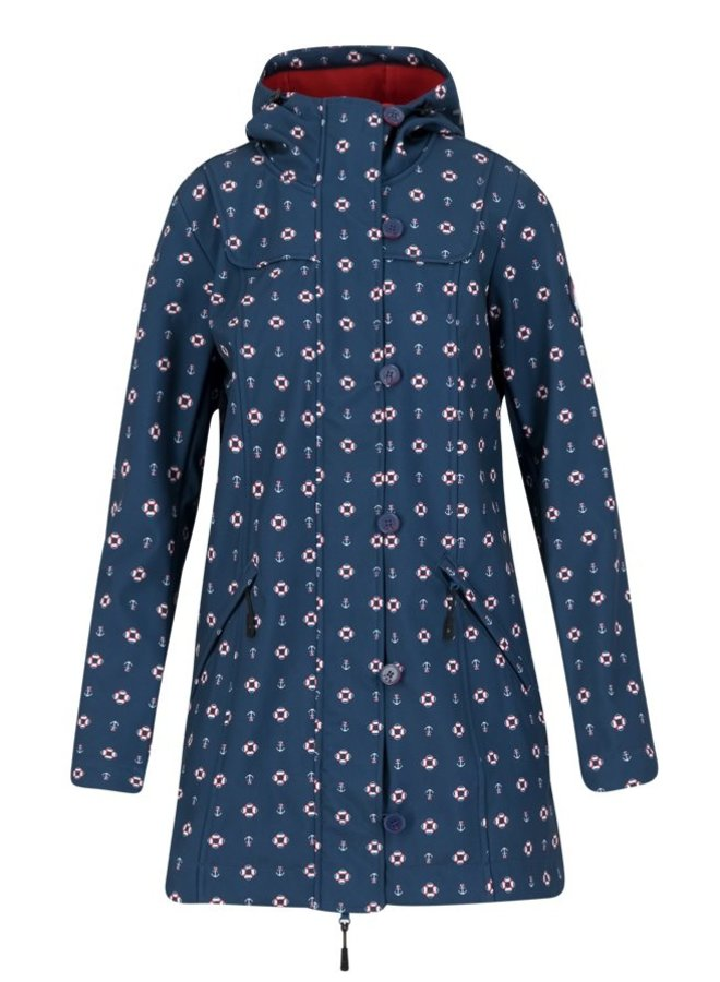 Softshell-Parka wild weather long anorak - anchor hope love