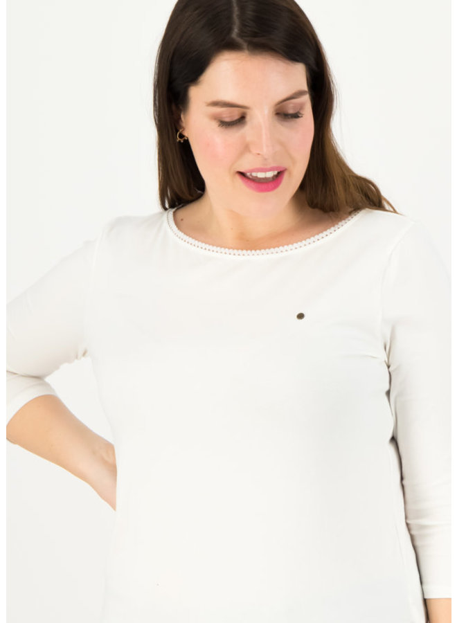 Shirt logo u-boot 3/4 welle - just me in white