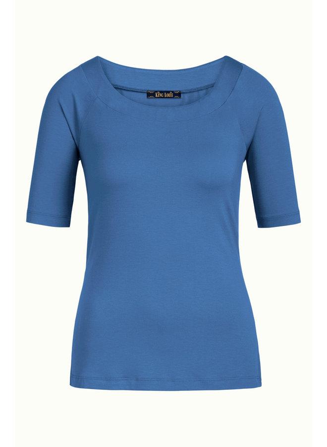 Sarah Top Ecovero light - Bluestone Blue