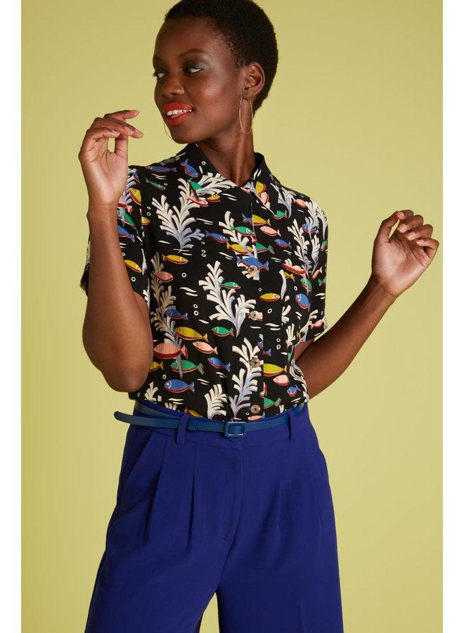 Bluse Ella Blouse Big Sur - Black