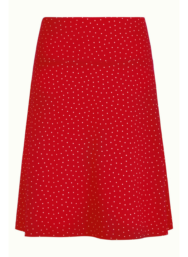 Rock - Border Skirt Little Dots -  Chili Red