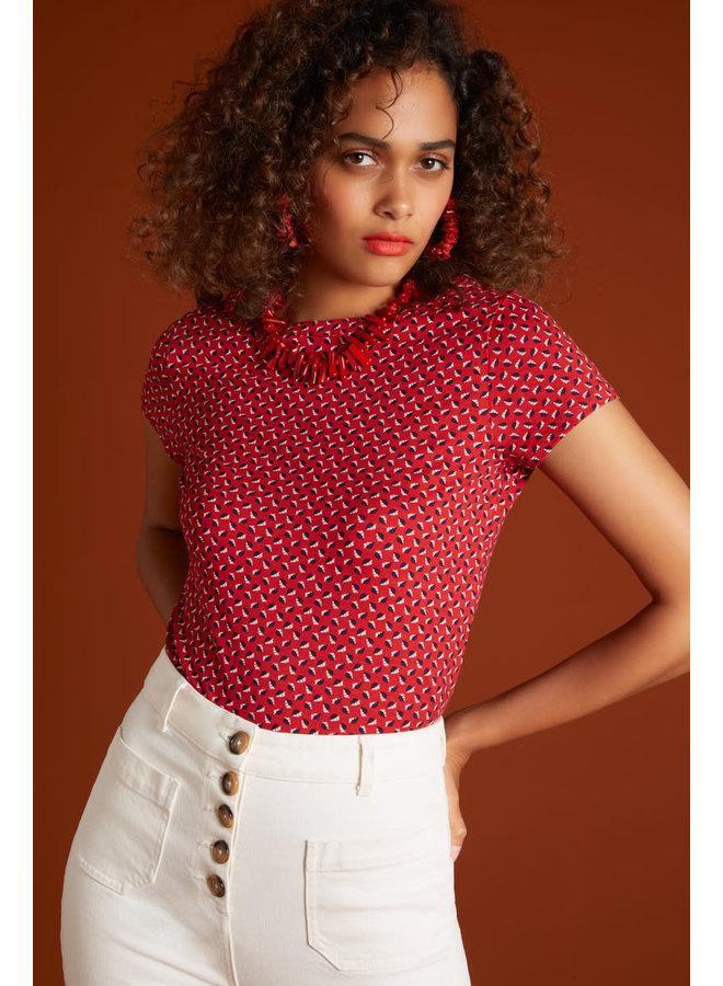 Shirt - Lily Top Rancho - Chili Red