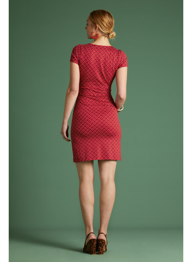 Kleid - Mona Dress Rancho - Chili Red