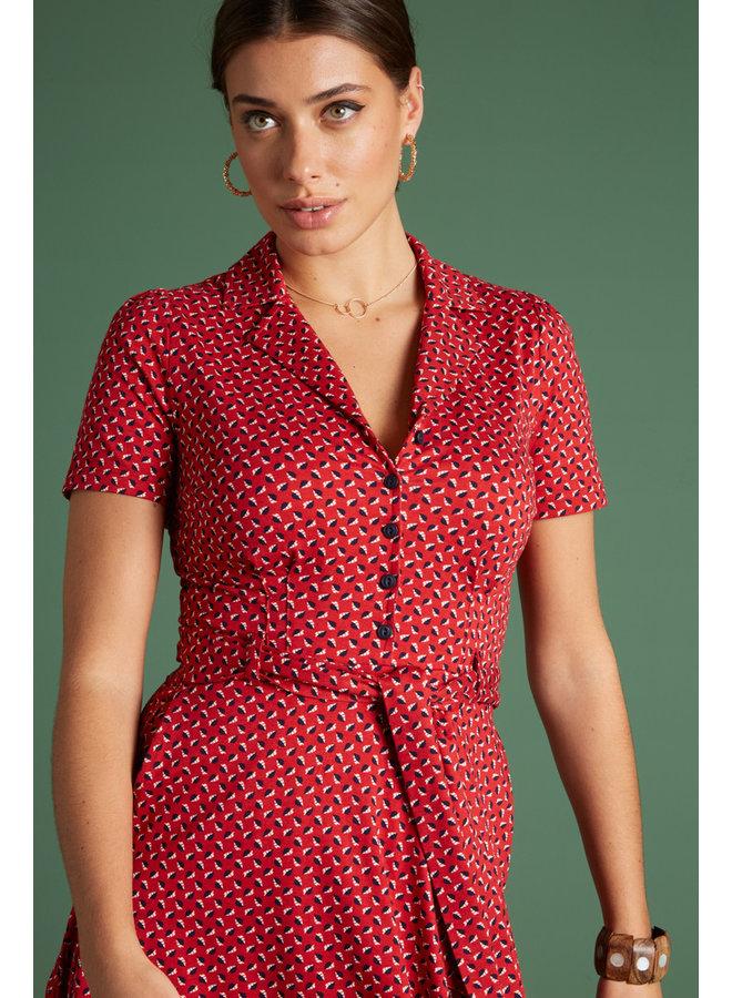 Kleid - Sheeva Dress Rancho - Chili Red