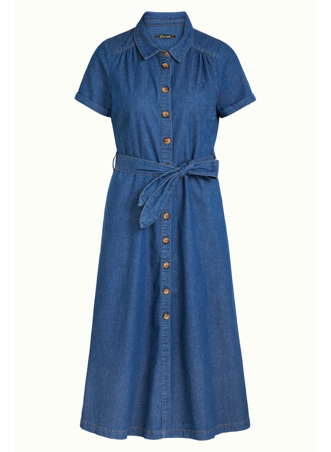 Kleid - Olive Dress Chambray - River Blue