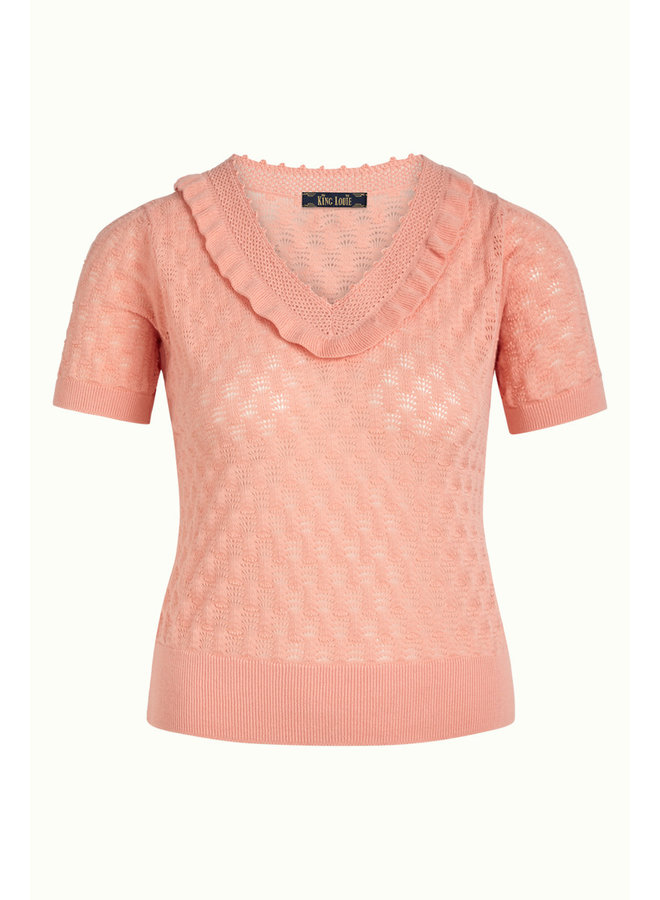 Stricktop - Ruffle V Top Sunset - Peony Pink