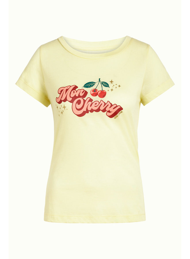 Shirt - Cath Tee Cherry - Light Yellow