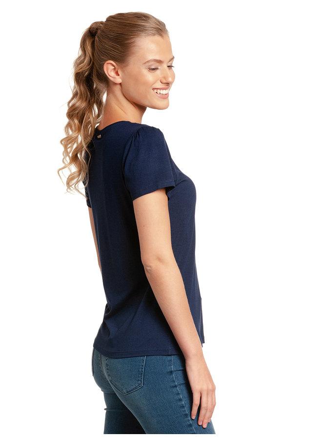 Flower Day Damen T-Shirt - blau