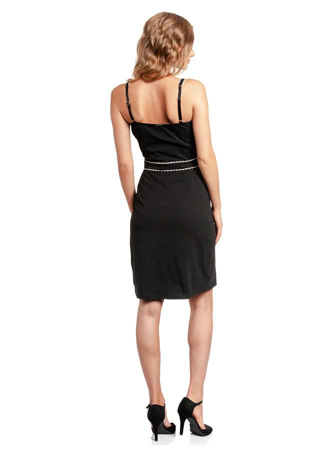 Capri Damen Etuikleid  - schwarz