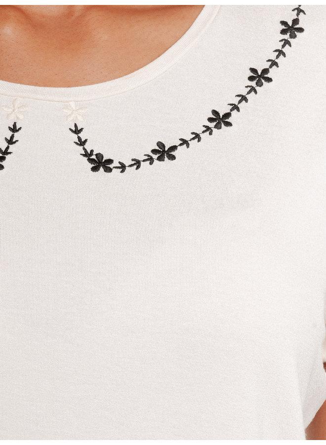 Flower Day Damen T-Shirt - creme