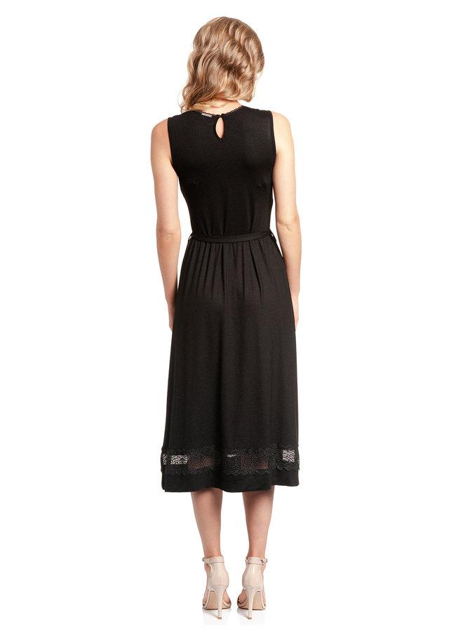Paris Summer Damen A-Linien-Kleid - schwarz