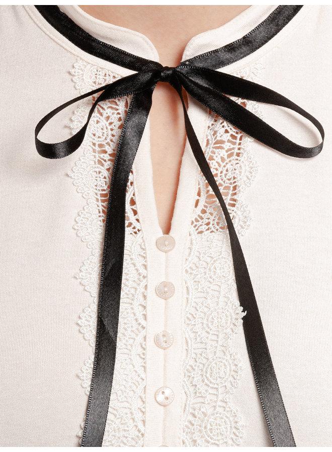 Paris Afternoon Damen A-Linien-Kleid - schwarz/creme