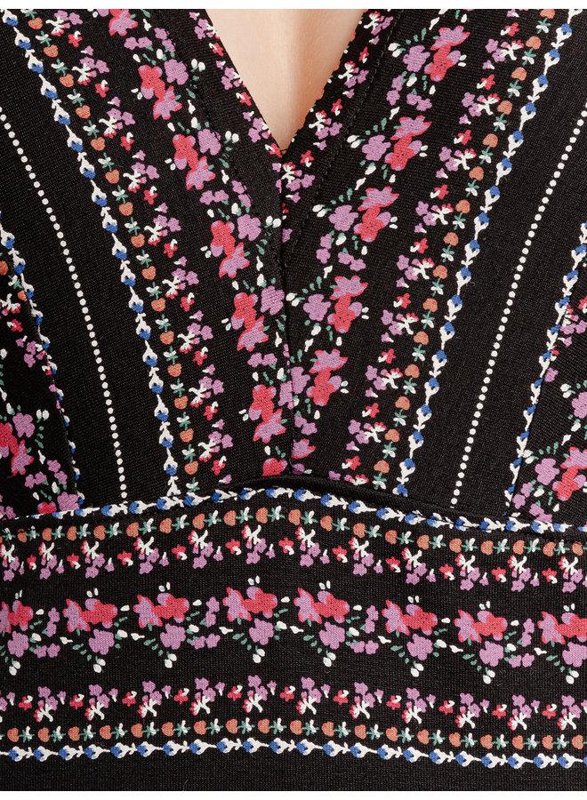 Midsummer Damen T-Shirt - schwarz allover