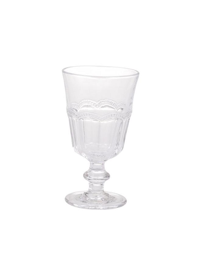 Weinglas Antoinette mit Perlenkante