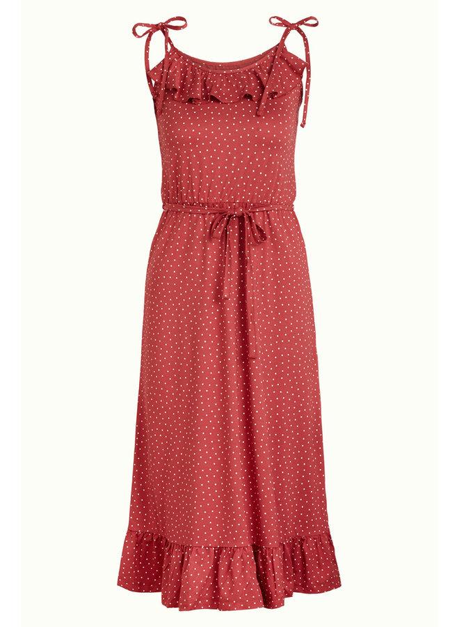 Kleid -  Camilla Dress Little Dots - Apple Pink