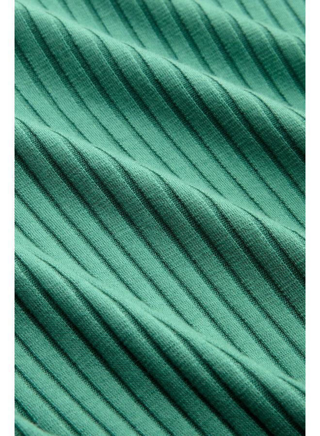 Shirt - Carice V Top Uni Roulette - Fir Green