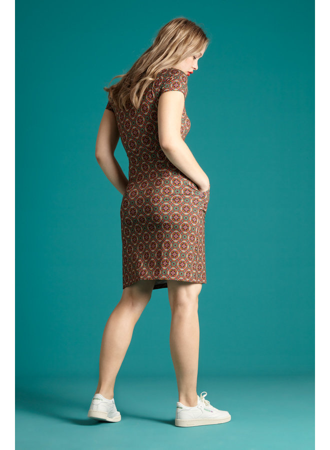 Kleid -  Mona Dress Morada - Salsa Red